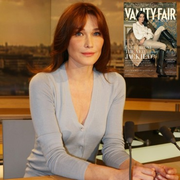 people : Carla Bruni au 20h et couverture Vanity Fair