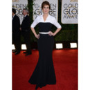 Julia Roberts en robe effet smoking aux Golden Globes le 12 janvier 2014 à Los Angeles