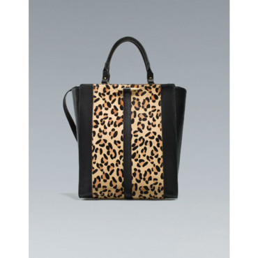Sac shopper en fourrure Zara 69 euros