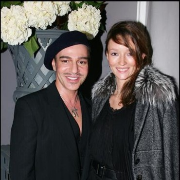 Galliano et le top model Audrey Marnay