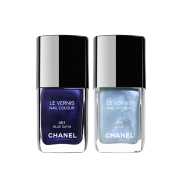 le maquillage par couleur le bleu vernis blue satin chanel beaut. Black Bedroom Furniture Sets. Home Design Ideas