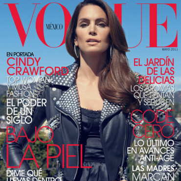 Cindy Crawford en une de Vogue