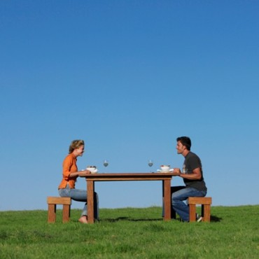 Couple à table