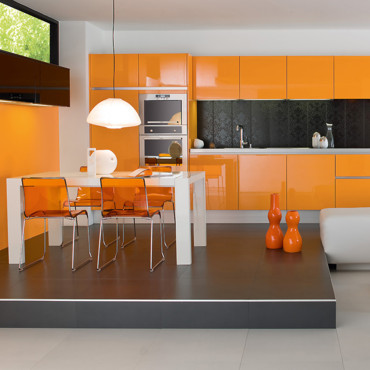 Cuisine Peinture Orange Of Couleur Du Printemps Zoom Sur L 39 Orange Tendances D Co