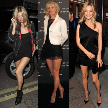 Montage Kate Moss petite robe noire
