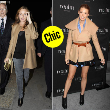 Manteau camel _ Stella McCartney Blake Lively