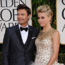 Julianne Hough et Ryan Seacrest lors des Golden Globes 2013 le 13 janvier 2013 à Los Angeles
