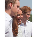 Le Prince Harry avec Kate Middleton et le Prince William à Bacon's College pour un partenariat de charité