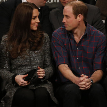 Kate Middleton et le prince William lors du match de NBA Brooklyn vs Cleveland à New York le 8 décembre 2014