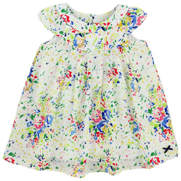 Robe Bébé Fille En Soie Blanche Imprimé Splash Paul Smith Junior