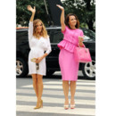 Sur le tournage de Sex and the city - Sarah Jessica Parker et Kristin Davis