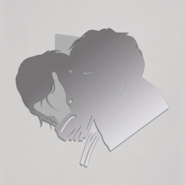 Stickers muraux Domestic par Laurent Fétis : Le baiser