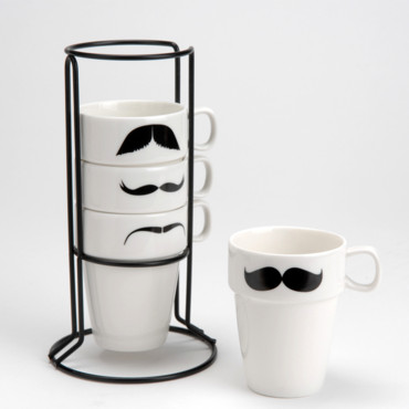 no l 2013 les cadeaux d co moins de 50 tasses moustache amadeaus d co. Black Bedroom Furniture Sets. Home Design Ideas