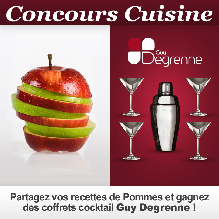 concours cuisine partagez vos recettes de pommes et gagnez des coffrets guy degrenne. Black Bedroom Furniture Sets. Home Design Ideas