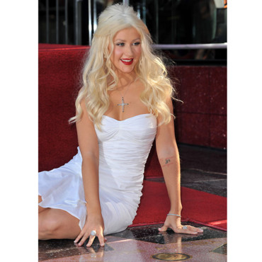 Christina Aguilera sur Hollywood Boulevard
