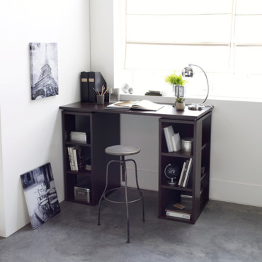 mon bureau dans le salon un bureau dans le salon. Black Bedroom Furniture Sets. Home Design Ideas
