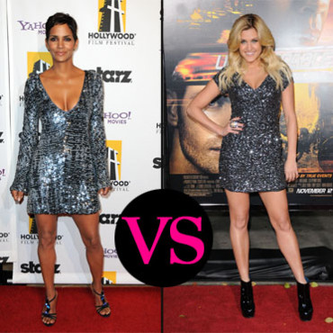 Ashley Roberts et Halle Berry en mode sequins