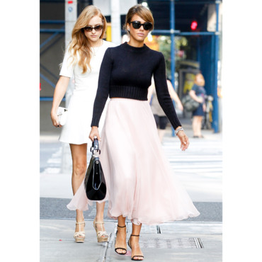 Jessica Alba à New York pendant la fashion week le 12 septembre 2013