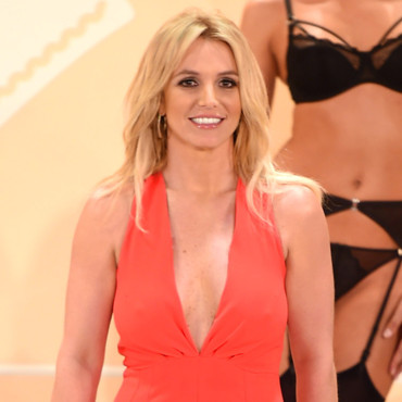 Britney Spears lors de la présentation de sa collection de lingerie à New York en septembre 2014