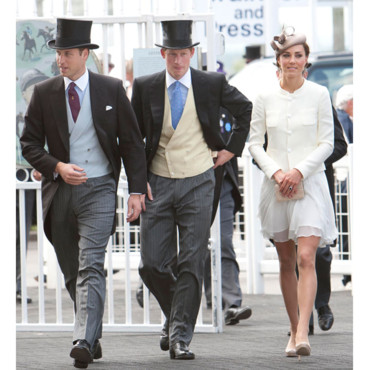 Kate Kate Middleton Princesse Catherine Prince Harry et Prince William Derby Horse Racing à Epsom