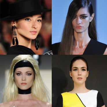 Tendances maquillage printemps-été 2013, Fashion Week Paris et New York, maquillage cat eyes.