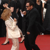 Photo : Quentin Tarantino et Mélanie Laurent au Festival de Cannes 2009