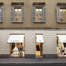 Boutique Chanel de Milan la devanture