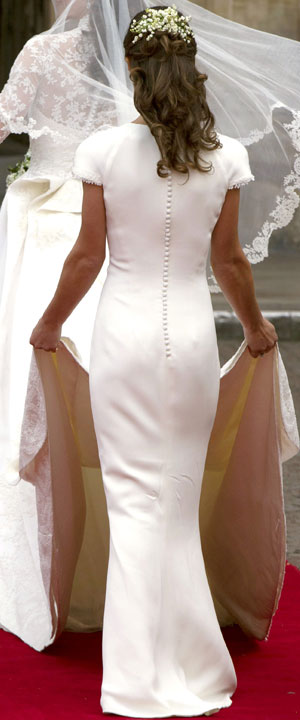 Pippa Middleton fesses mariage Kate Middleton Prince William 29 avril 2011