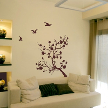 Sticker mural asiatique tendances d co d co for Stickers murs deco