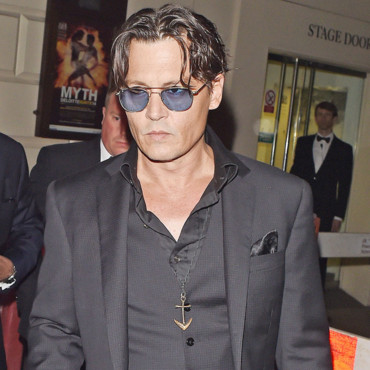 Johnny Depp au GQ Awards à Londres en septembre 2014