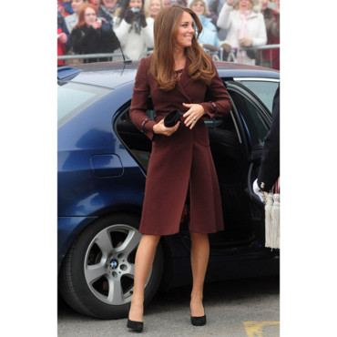Kate Middleton arrive au National Fishing Heritage Cenre à Grimsby, le 5 mars 2013.