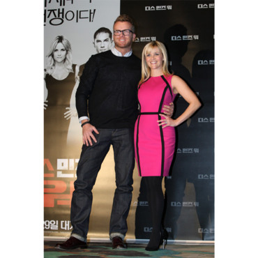 Reese Witherspoon en Michael Kors à la première de This Means War
