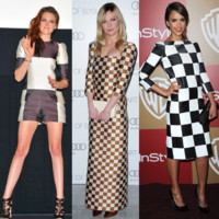 Kristen Stewart, Jessica Alba... elles craquent pour l&#039;imprim damier