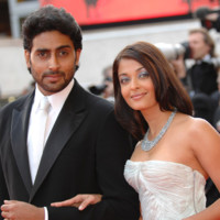 Photo : Aishwarya Rai et son mari Abhishek Bachchan au Festival de Cannes