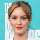 Leighton Meester et son rouge à lèvres orange