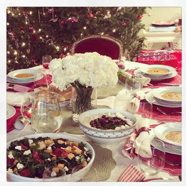 Table de Noël de Miranda Kerr