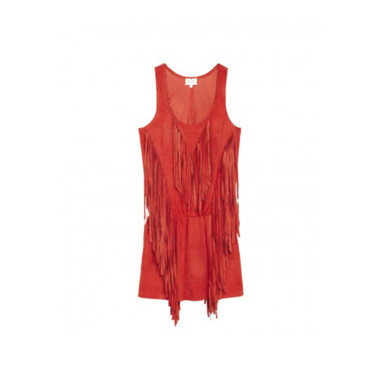 La robe à franges rouge Bel Air 450 euros