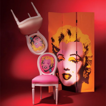 Chaise Louis Marilyn Rose 139 Euros