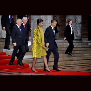 Michelle Obama en Calvin Klein