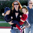 Marcia Cross et ses jumelles Eden et Savannah