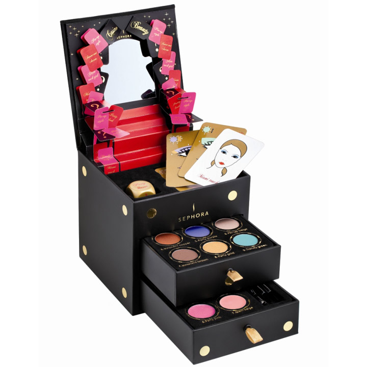 id es cadeaux de no l les beaux coffrets maquillage coffret maquillage casino beauty sephora. Black Bedroom Furniture Sets. Home Design Ideas