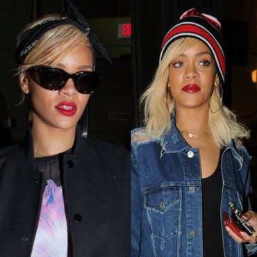 Rihanna à New York mars 2012 duo de look beauté hipsters