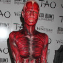 Heidi Klum son déguisement trash pour Halloween 2011 au Tao Club night
