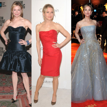 Renee Zellweger evolution look