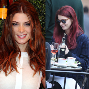 Ashley Greene en cheveux rouges à New-York le 20 octobre 2012
