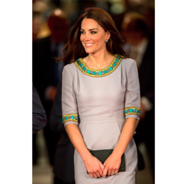 Kate Middleton en robe Matthew Williamson