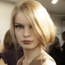 Fashion Week 2009 : le chignon de côté