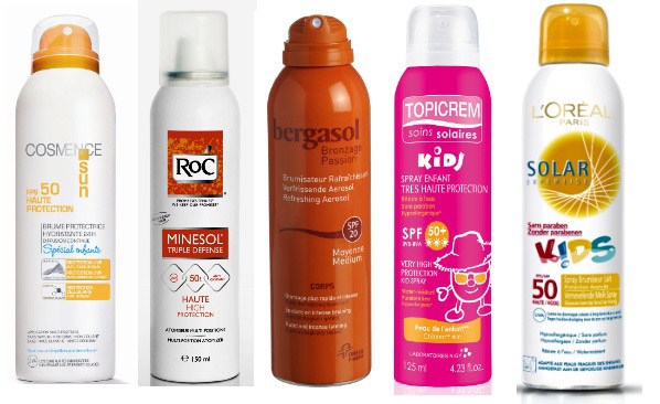 Soins solaires sprays multi-positions