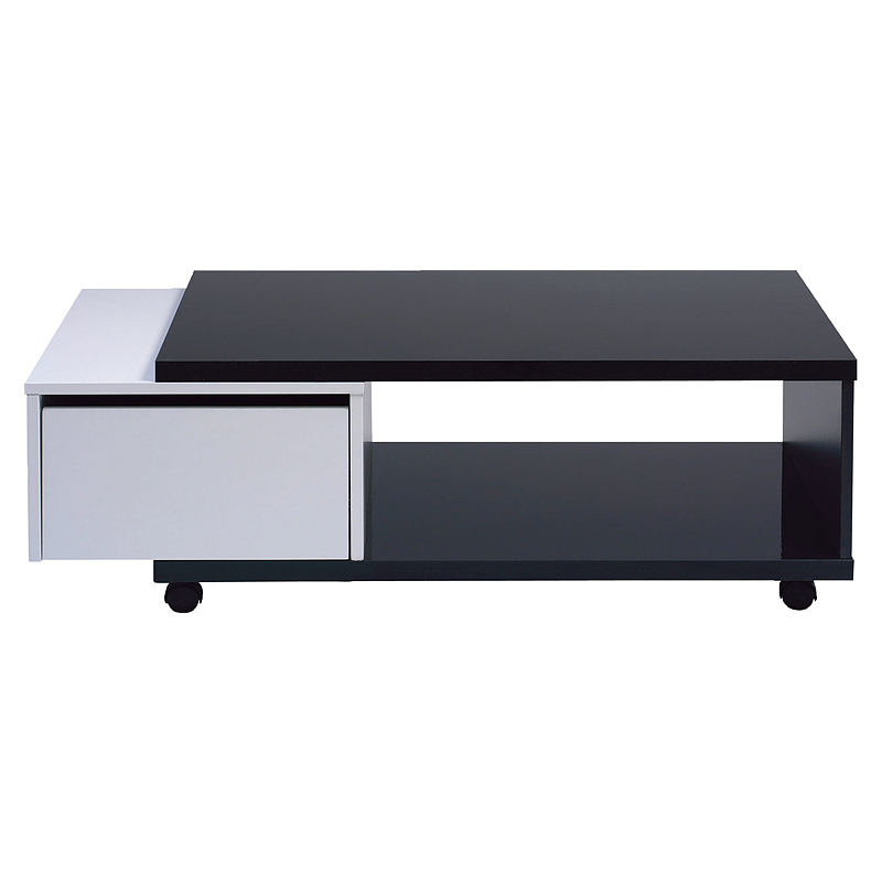 Table basse blanc laqu conforama table basse de salon for Table basse modulable conforama