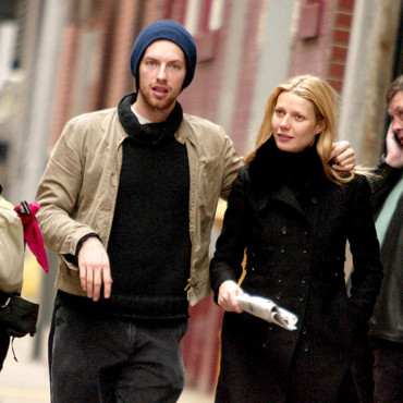 Gwyneth Paltrow et Chris Martin le 21 février 2003 à New York
